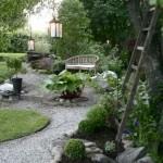 Garden and walkway