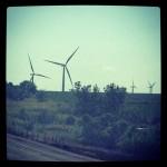 Massive, creepy wind turbines, somewhere in rural Nebraska